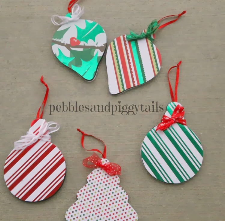 Scrapbook Paper Christmas Ornaments Making Life Blissful