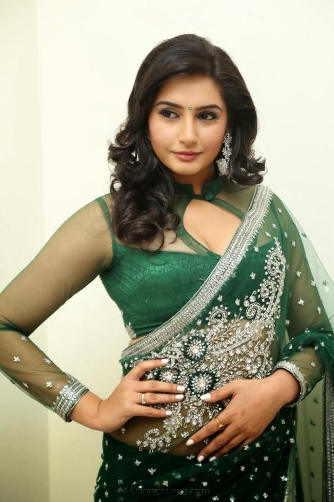Ragini Dwivedi Hot Hd Pics In Green Saree _ Ragini Dwivedi Hot Navel Show Pics