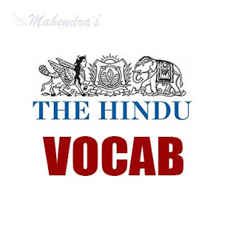 The Hindu Vocabulary For SBI Clerk Prelims | 01-06-18