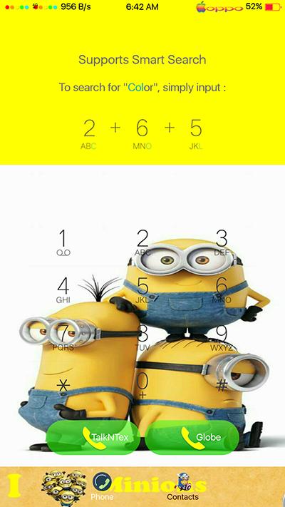 Oppo Theme:Oppo F3|F3 Plus Minions Theme