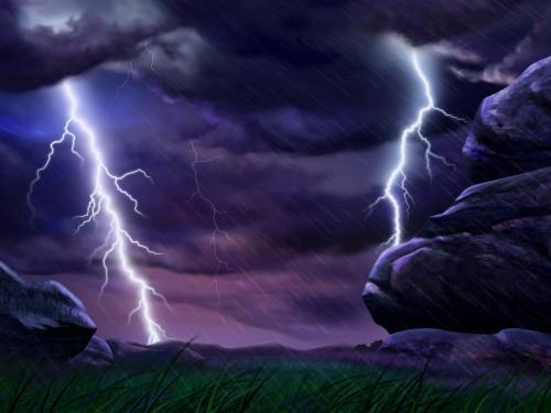 lightning strike wallpaper-#46
