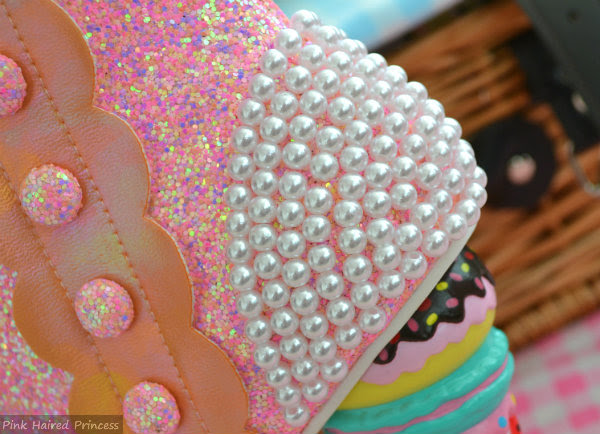 pearl heel detail on ankle boot