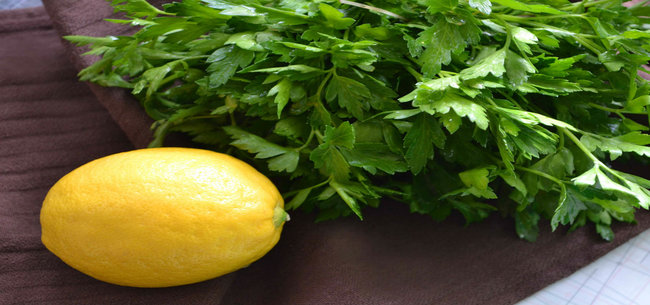 lemon and parsley