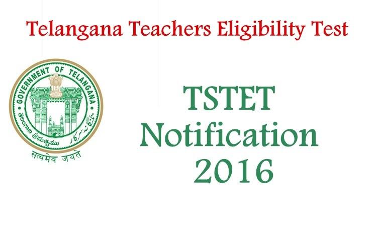 telangana teacher eligibility test tet tstet 2016 notification. Black Bedroom Furniture Sets. Home Design Ideas