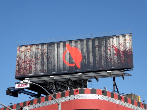 Special barb wire Containment teaser billboard