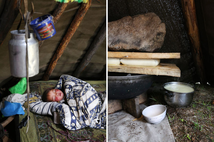 Inside the Tsaatan tent - Meet The Tsaatan Nomads In Mongolia Who Live Like No One Else
