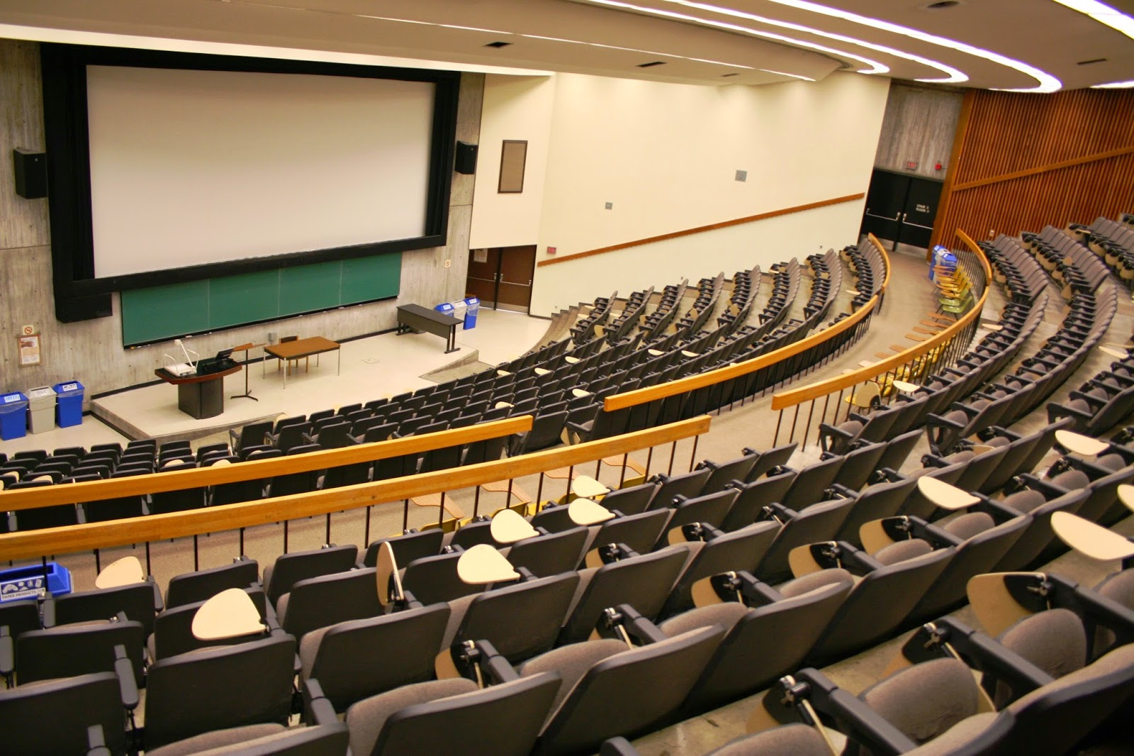 Your standard university lecture hall; the education provided in some places is far from standard however.