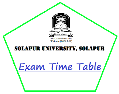Solapur University Time Table Oct 2018