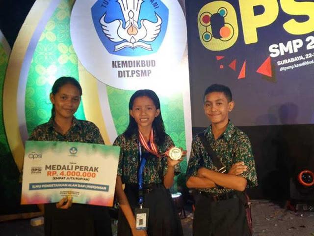 Siswa Siswi SMP Kota Ambon Raih Medali di Olimpiade Penelitian Nasional