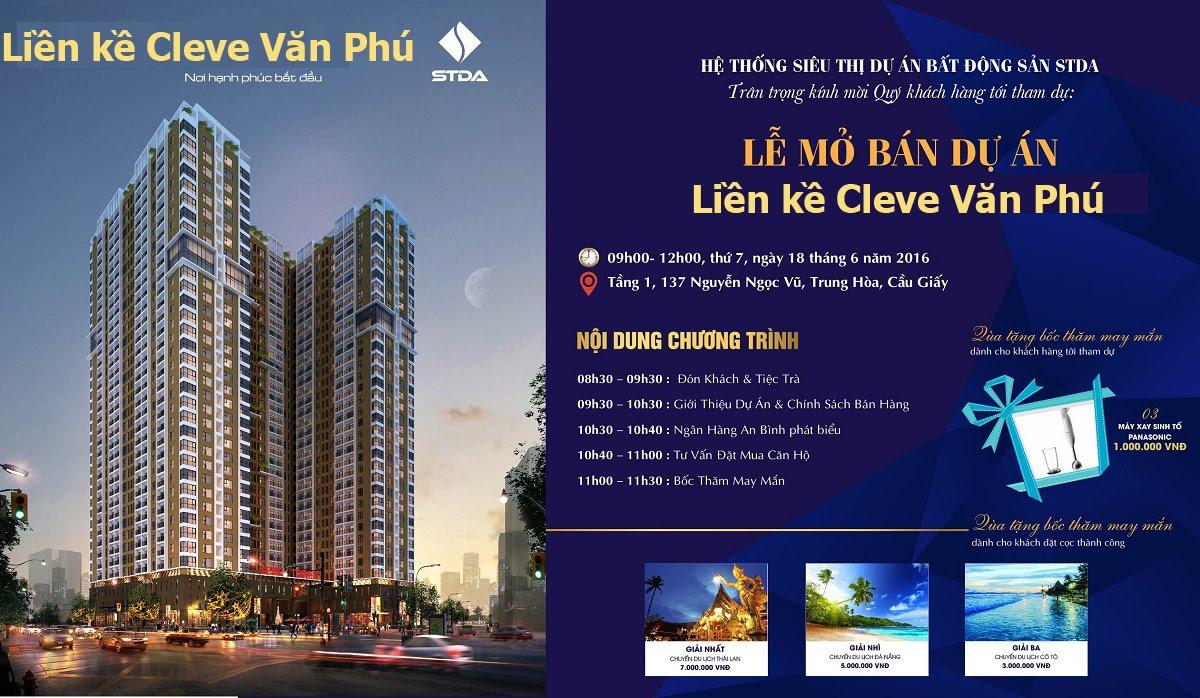 Mở bán Liền kề Cleve Văn Phú hibrand
