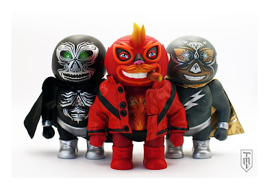 The Mighty Luchador Senor Fuego Vinyl Figure by Carlo Flores