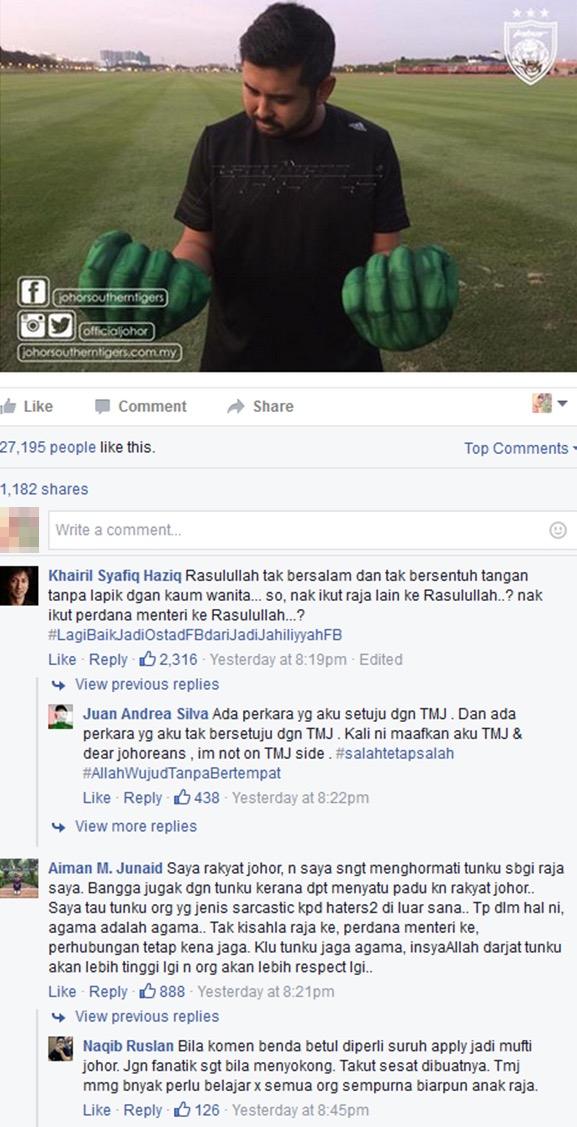 Netizen mula muak dengan sikap 'sarcastic' TMJ seolah-olah permainkan agama