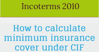 How to calculate minimum insurance cover under CIF