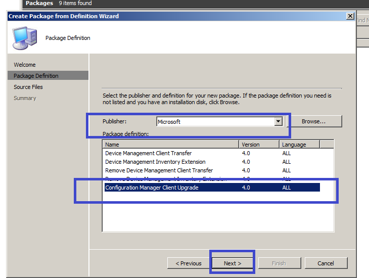 How to create SCCM 2007 Client Package