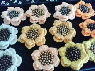 Brooch Sunflower Bermanik