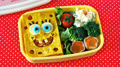 Japanese Cooking Video Recipe Somehow I Am Receiving Many Requests For Sponge Bob Bento Box So Finally Made It