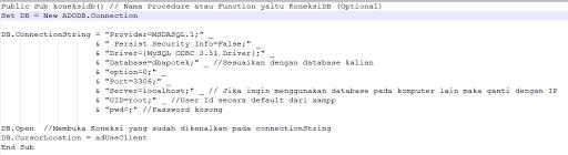 Cara Koneksi VB ke MySQL