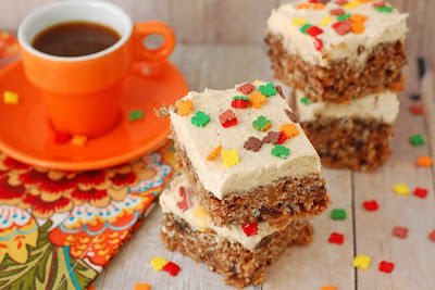 Chocolate Pumpkin Rice Krispie Treats By The Sweet Chick