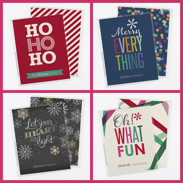 Adorable interchangeable holiday planner covers from Erin Condren! Get in the holiday spirit!