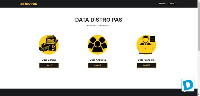 Download Aplikasi Penjualan Distro Pas dengan PHP dan CSS - Dunia Programming