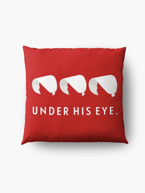 Under His Eye - handmaid's pillow