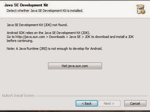 "Cara Mengatasi Masalah Install SDK Android ""JDK Not Found"" Di Windows 7"