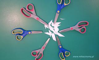 Nauka wycinania nożyczkami