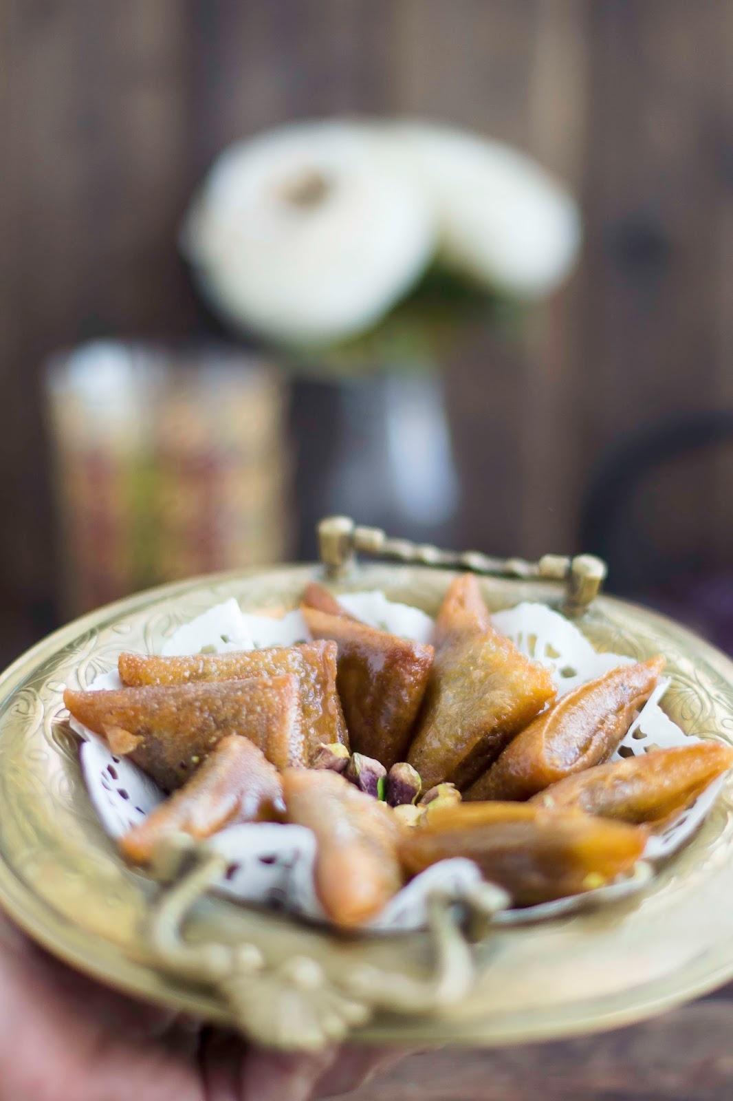 Briouats de almendra y miel