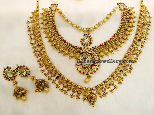 Gold Beads Antique Sets in Light Weight