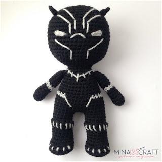 patron amigurumi Pantera negra minasscraft