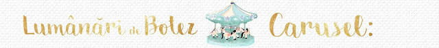 lumânări botez carusel