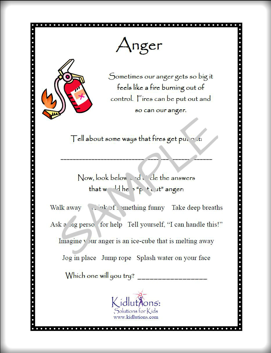 Workbooks anger workbook : Free Printables on Anger, Self-esteem, Divorce, Grief and MORE