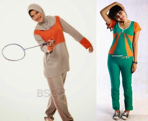 model baju senam muslim