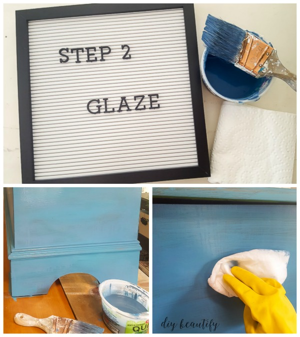 DIY furniture glaze