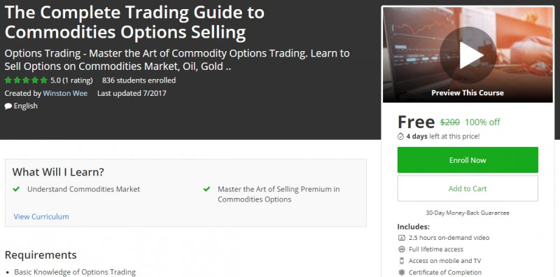 My review of The complete guide to option selling book