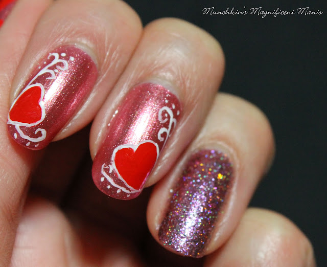 Happy Valentine's Day Nail Design