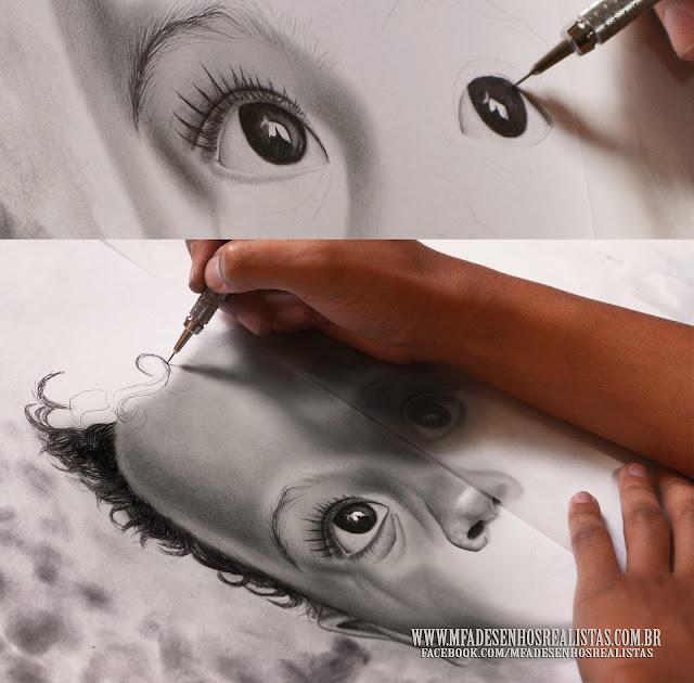 Desenho Realista / Grafite sobre papel Fabriano 50x70