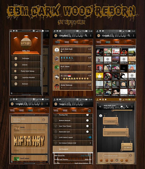 bbm dark wood reborn v3.3.4.48 Apk Latest