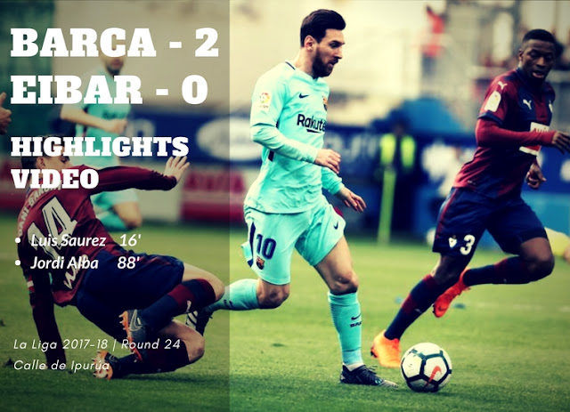 Lionel Messi in action in FC Barcelona's 2-0 victory against Eibar