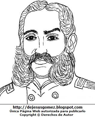 Andrés Avelino Cáceres para colorear pintar e imprimir. Dibujo de Andrés Avelino Cáceres hecho por Jesus Gómez