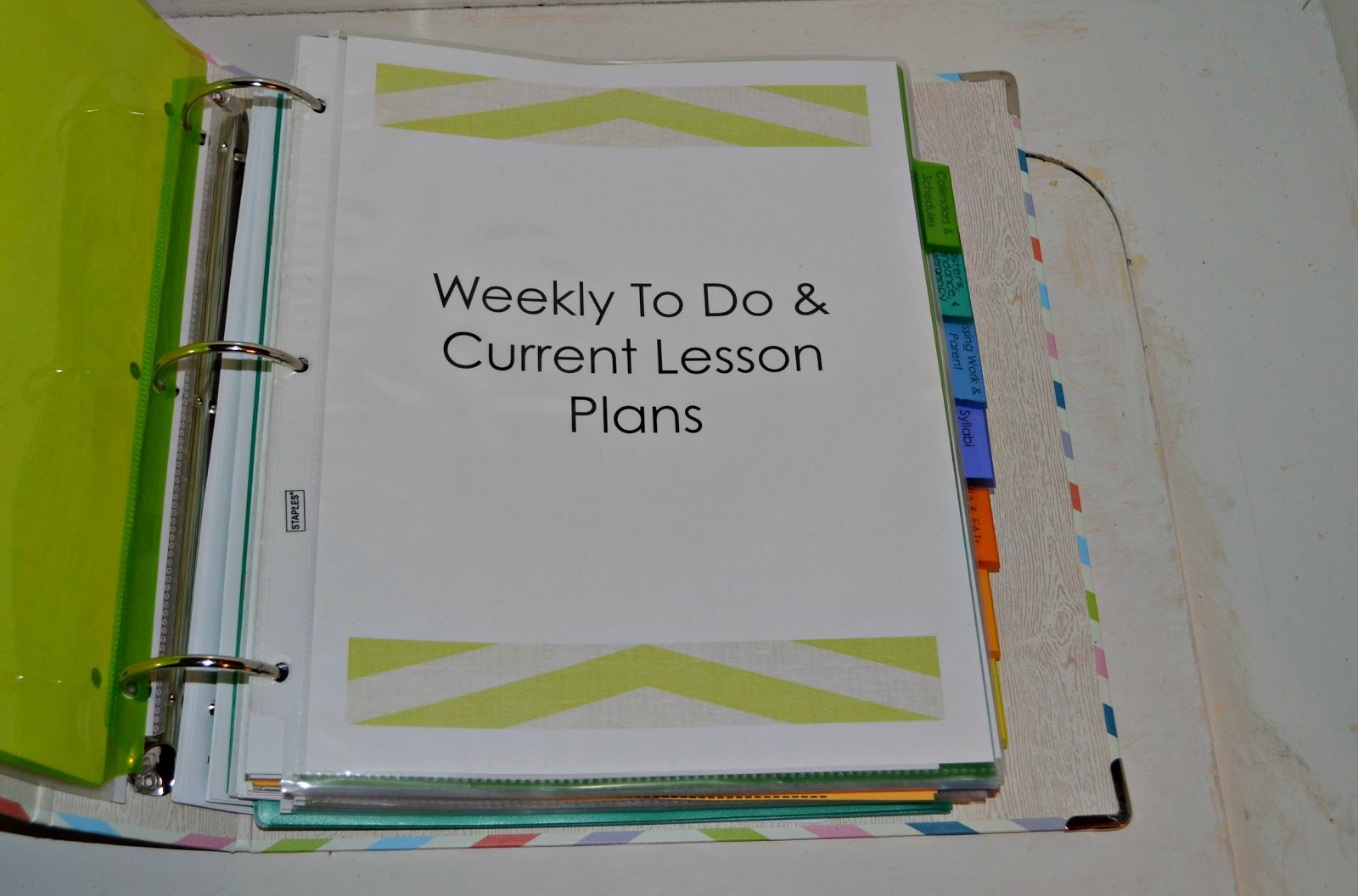 E Myself And I Teaching Tuesday Classroom Organization Binder Lesson Plan Template For