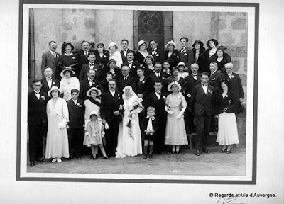 Photos de familles noir et blanc