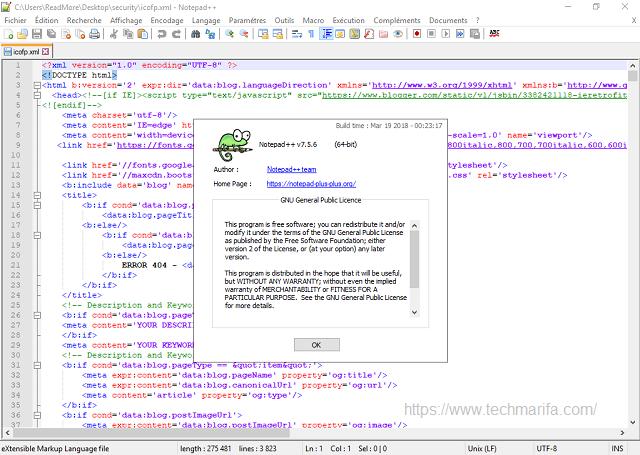 تحميل برنامج المفكرة ++ Notepad++ 7.5.6  للويندوز مجانا