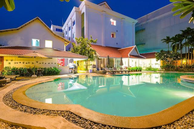 Our huge poolside in Siem Reap