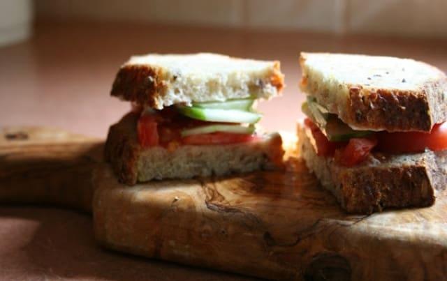 cucumber tomato avocado whole grain bread recipe frugal fitness