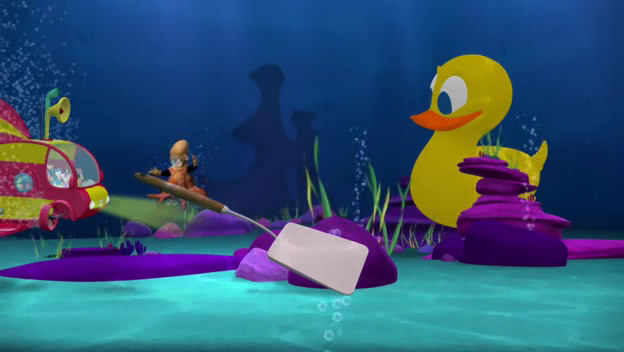 how are you gonna use a spatula to free a giant rubber ducky?