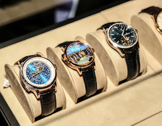 Pieces from Jaeger-LeCoultre's collection showcased at the dinner