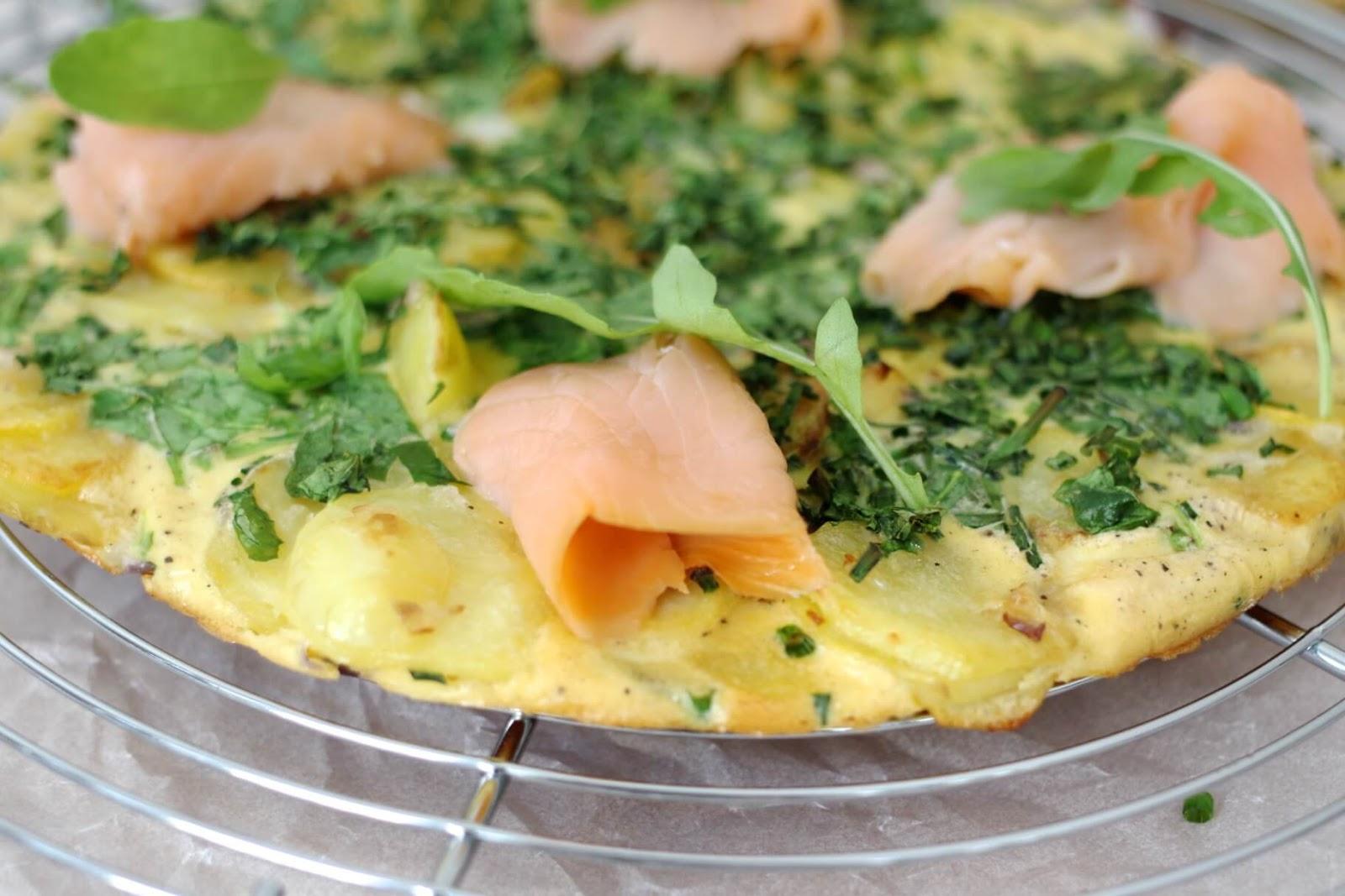 Frittata mit Lachs