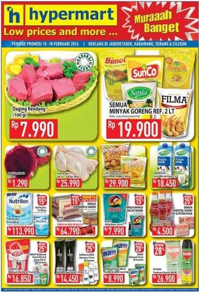 Katalog Promo Dan Belanja Hypermart Periode 15-18 Februari 2016