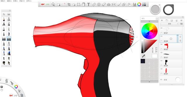 Sketchbook Pro 快速設計表現技法教學8